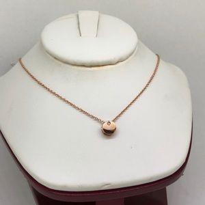 Jewelry - 14k Rose Gold 3D Round Pendant w/ Diamond Stud